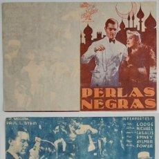 Coleccionismo: PROGRAMA DE CINE DE MANO PERLAS NEGRAS. Lote 155277210