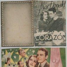 Coleccionismo: PROGRAMA DE CINE DE MANO SE LLEVÓ MI CORAZÓN. Lote 155277418