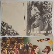 Coleccionismo: PROGRAMA DE CINE DE MANO LA CADENA INVISIBLE - LASSIE. Lote 155277654