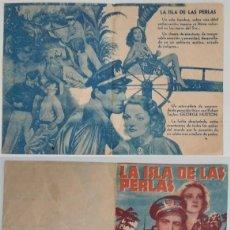 Coleccionismo: PROGRAMA DE CINE DE MANO LA ISLA DE LAS PERLAS. Lote 155277822