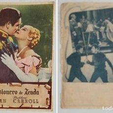 Coleccionismo: PROGRAMA DE CINE DE MANO EL PRISIONERO DE ZENDA. Lote 155278394