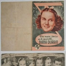 Coleccionismo: PROGRAMA DE CINE DE MANO DIANA DURBIN. Lote 155279982