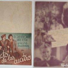 Coleccionismo: PROGRAMA DE CINE DE MANO EL PACTO DE LAS CUATRO. Lote 155280218