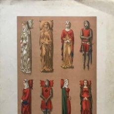 Coleccionismo: ESCULTURA E INDUMENTARIA BARCELONESA DEL SIGLO XIV 44,1X32 CM. Lote 155280438