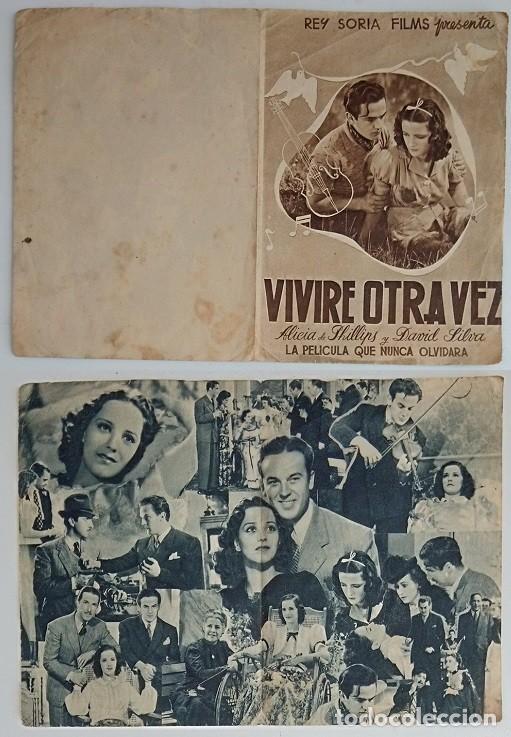 PROGRAMA DE CINE DE MANO VIVIRÉ OTRA VEZ (Coleccionismo - Laminas, Programas y Otros Documentos)