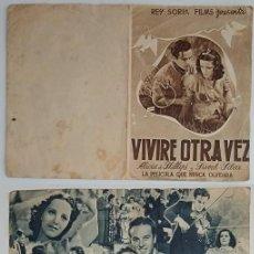 Coleccionismo: PROGRAMA DE CINE DE MANO VIVIRÉ OTRA VEZ. Lote 155280614