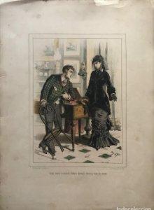 1880 Moda Lit. Pigrau, Bruch 44,3x32 cm
