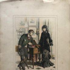 Coleccionismo: 1880 MODA LIT. PIGRAU, BRUCH 44,3X32 CM. Lote 155283366