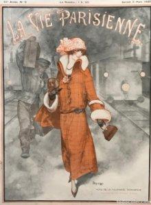 1923 La Vie Parisienne. Lámina original sobre cartulina negra preparada para enmarcar 32,5×45,8 cm