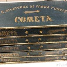 """Coleccionismo: CAJA DE HILATURAS """"COMETA"""" DE FABRA Y COATS. Lote 155380598"""