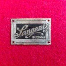 Coleccionismo: SANGENIS BARCELONA - PLACA METALICA. Lote 155458422