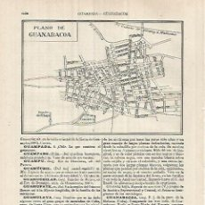 Coleccionismo: LAMINA ESPASA 32184: PLANO DE GUANABACOA CUBA. Lote 155469142