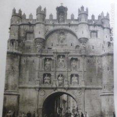 Coleccionismo: BURGOS ARCO DE SANTA MARIA ANTIGUO HUECOGRABADO AÑOS 30. Lote 155535106
