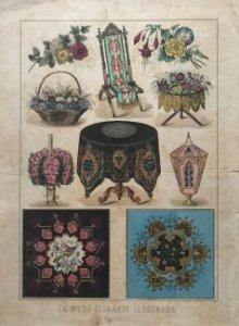 Antigua lámina ornamentos 26,3×36,7cm