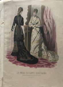 1888 Antigua lámina moda 26×37cm