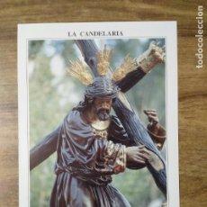 Coleccionismo: MFF.- FOLLETO RELIGIOSO. COFRADIA LA CANDELARIA. PASOS. NUESTRO PADRE JESUS DE LA SALUD Y MARIA . Lote 155842358