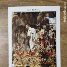 Coleccionismo: MFF.- FOLLETO RELIGIOSO. COFRADIA SAN BENITO. PASOS. SAGRADA PRESENTACION DE JESUS AL PUEBLO. . Lote 155842710