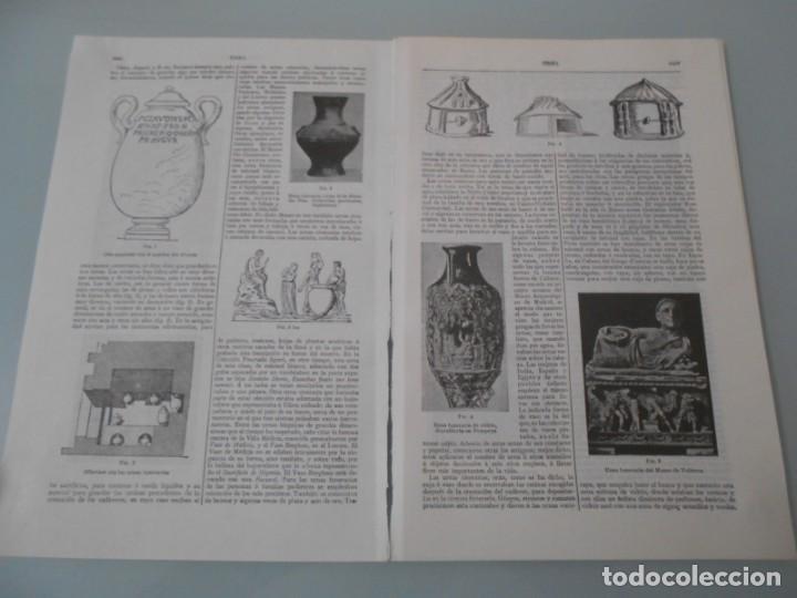 LÁMINA ESPASA .- URNA -4 PÁGINAS (Coleccionismo - Laminas, Programas y Otros Documentos)