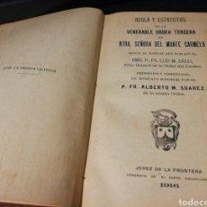 Coleccionismo: REGLA Y ESTATUTOS VIRGEN DEL CARMEN. JEREZ DE LA FRONTERA. 1916. Lote 155996194
