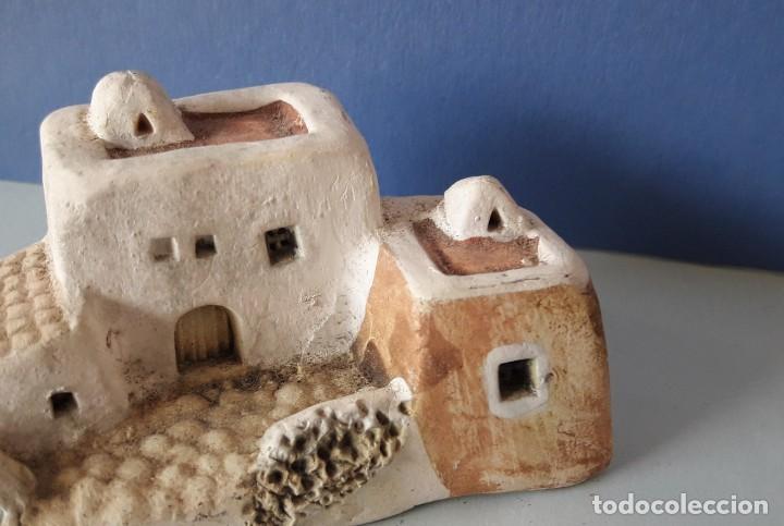 CASITA IBICENCA DE ARCILLA- (Coleccionismo - Varios)