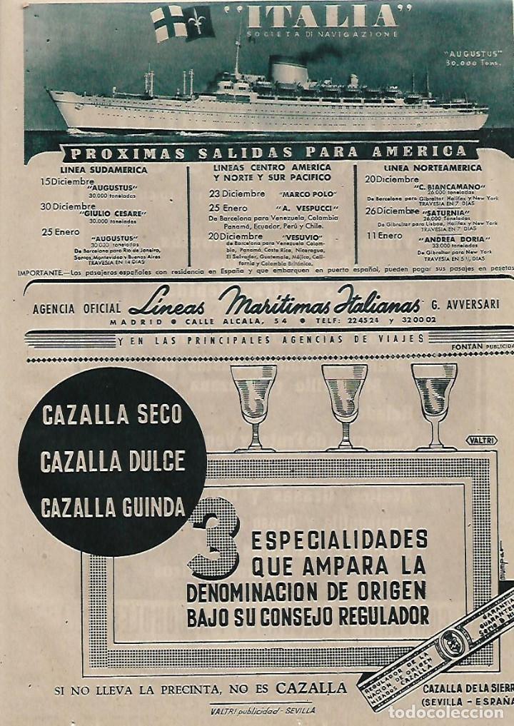 AÑO 1955 RECORTE PRENSA PUBLICIDAD BEBIDAS ANISADOS CAZALLA CAZALLA DE LA SIERRA SEVILLA (Coleccionismo - Laminas, Programas y Otros Documentos)