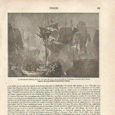 Coleccionismo: LAMINA ESPASA 31796: LA MUERTE DE NELSON POR TURNER. Lote 156179945