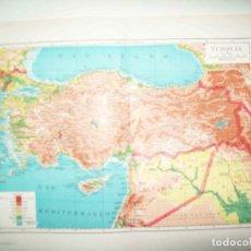 Coleccionismo: LAMINA ESPASA 31800: MAPA DE TURQUIA. Lote 156181932