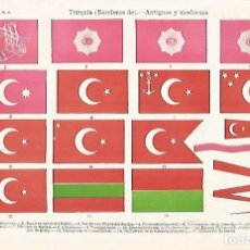 Coleccionismo: LAMINA ESPASA 31805: BANDERAS DE TURQUIA. Lote 156183477