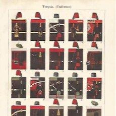 Coleccionismo: LAMINA ESPASA 31807: UNIFORMES DE TURQUIA. Lote 156184938