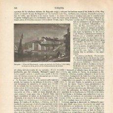 Coleccionismo: LAMINA ESPASA 31809: VISTA DE MISSOLUNGHI TURQUIA. Lote 156185493