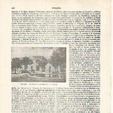 Coleccionismo: LAMINA ESPASA 31812: MINISTERIO DE HACIENDA EN ANKARA TURQUIA. Lote 156186502