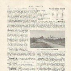 Coleccionismo: LAMINA ESPASA 31813: VISTA DE TURRE ALMERIA. Lote 156187008