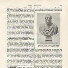 Coleccionismo: LAMINA ESPASA 31814: BUSTO DE JUANELO TURRIANO POR BERRUGUETE. Lote 156187930