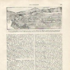 Coleccionismo: LAMINA ESPASA 31818: SITUACION DE LA TUMBA DE TUTANKHAMON EN EL VALLE DE LOS REYES. Lote 156189140