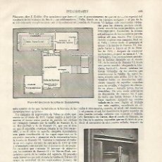 Coleccionismo: LAMINA ESPASA 31819: PLANO DEL INTERIOR DE LA TUMBA DE TUTANKHAMON. Lote 156189612