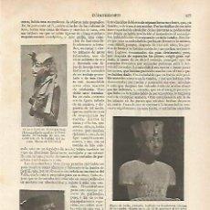 Coleccionismo: LAMINA ESPASA 31822: BUSTOS DE TUTAKHAMON Y NEFERTITI. Lote 156191261