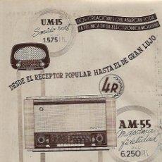 Coleccionismo: AÑO 1956 RECORTE PRENSA PUBLICIDAD MARCONI APARATOS DE RADIO. Lote 156380586
