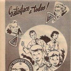 Coleccionismo: AÑO 1956 RECORTE PRENSA PUBLICIDAD EL CASERIO QUESO EN PORCIONES QUESITOS. Lote 156563062