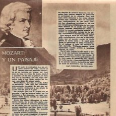 Coleccionismo: AÑO 1956 RECORTE PRENSA MOZART Y UN PAISAJE POR JOSE CORDOBA TRUJILLANO. Lote 156563326