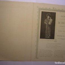 Coleccionismo: GOIG O GOZO DE SAN ANTONIO DE PADUA, CAPILLA DE CASA RICART, VIC, AÑO 1903. Lote 156572686