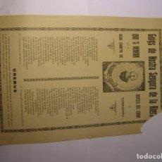 Coleccionismo: GOIG O GOZO DE Nª Sª DE LA RIERA, BORGES DEL CAMP, IMPRENTA LA FLECA, REUS.. Lote 156572838