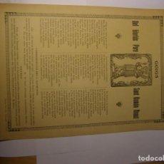 Coleccionismo: GOIG O GOZO DE SANT RAMON NONAT, IMPRENTA HEREUS VIUDA PLA, BARCELONA.. Lote 156573014
