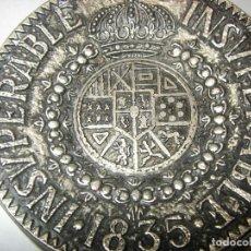 Coleccionismo: PEQUEÑO PLATO DE ALUMINIO CON PUBLICIDAD DE INSUPERABLE 1835 DE GONZALEZ BYASS, 7,5 CM.. Lote 156662174