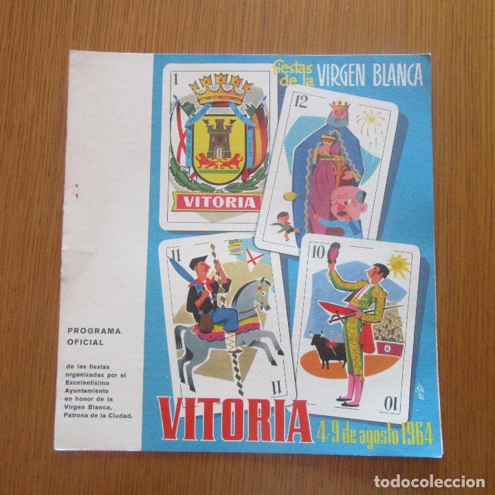 PROGRAMA FIESTAS 1964 VITORIA VIRGEN BLANCA (Coleccionismo - Laminas, Programas y Otros Documentos)