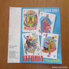 Coleccionismo: PROGRAMA FIESTAS 1964 VITORIA VIRGEN BLANCA. Lote 156718370