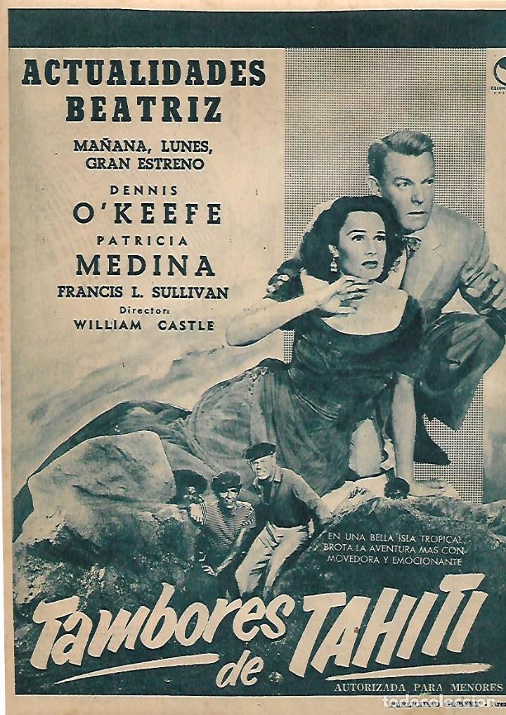 año 1956 recorte prensa publicidad cine pelicul - Comprar Documentos  antiguos en todocoleccion - 157128374