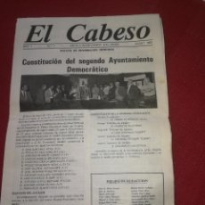 Coleccionismo: PINOSO ( ALICANTE ) - AÑO 1983 - EL CABESO - REVISTA Nº 1 - EDITA L'AJUNTAMENT D'EL PINÓS. Lote 204982996