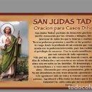 Coleccionismo: AZULEJO 40X25 DE SAN JUDAS TADEO CON ORACIÓN. Lote 157725090