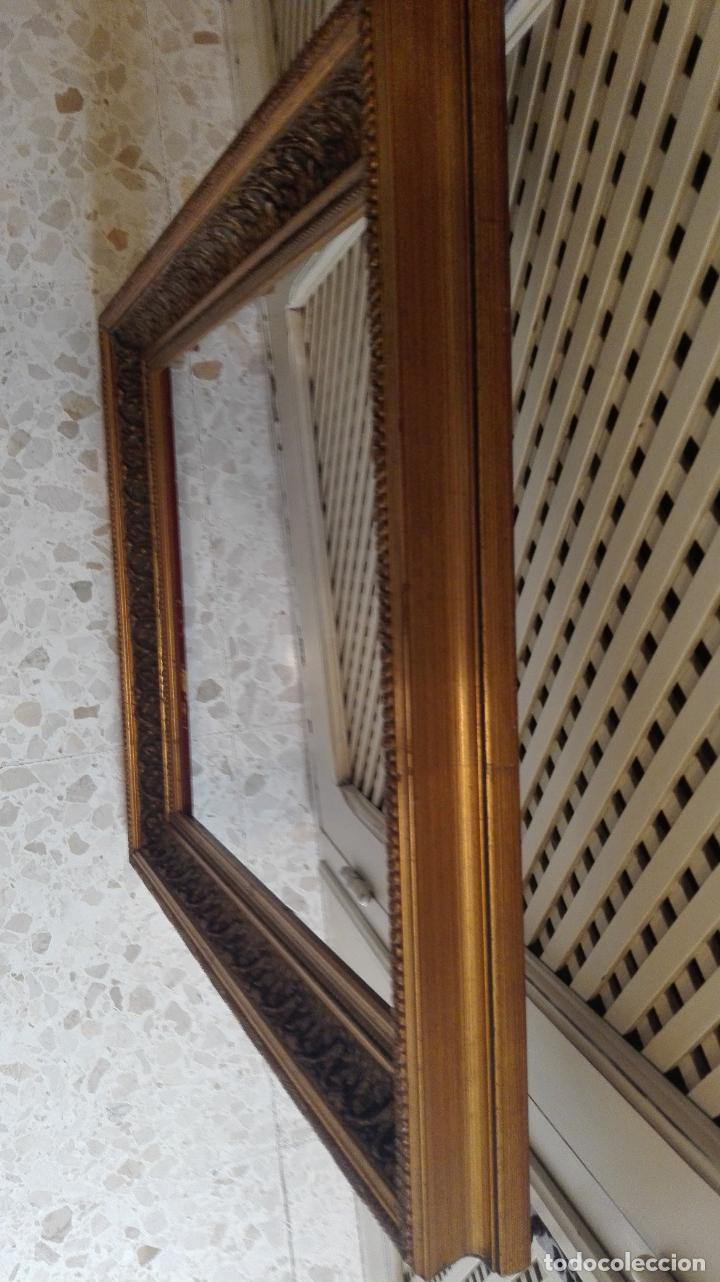 Coleccionismo: marco dorado-madera - Foto 2 - 157918874
