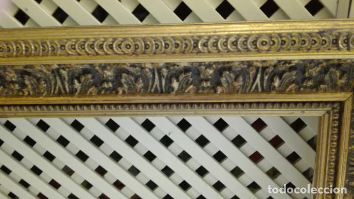 Coleccionismo: marco dorado-madera - Foto 4 - 157918874